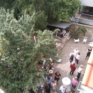 Hinterhof vor der Galerie