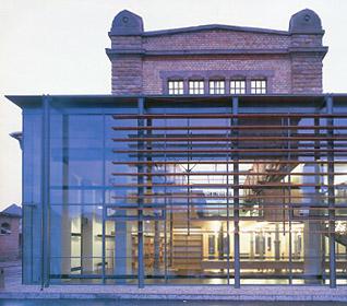 Stadtbibliothek Landau - Detail Westfassade