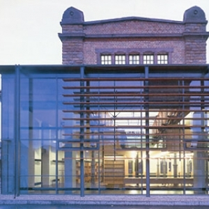 Stadtbibliothek Landau - Westfassade