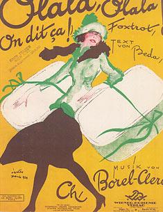 Illustriertes Notenblatt