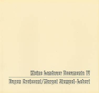 Kleine Landauer Documenta IV