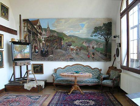 Strieffler Haus - Atelierraum im Obergeschoss